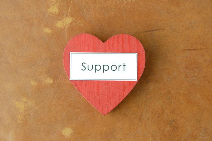 親切なサポート